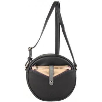 Sacs Femme Sacs Bandoulière Patrick Blanc Petit sac rond  Lisa noir et métallisé Multicolor