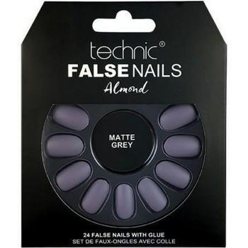 Beauté Femme Accessoires ongles Technic Faux ongles Almond   Matte Grey Autres