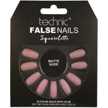 Beauté Femme Accessoires ongles Technic Faux ongles Squareletto   Matte Nude Rose