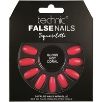 Beauté Femme Accessoires ongles Technic Faux ongles Squareletto   Gloss Hot Coral Rose