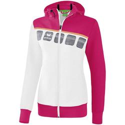 Vêtements Enfant Vestes de survêtement Erima Veste d'entrainement à capuche enfant blanc/bleu cliar