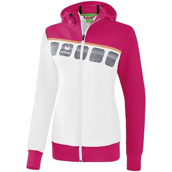 Vêtements Enfant Vestes de survêtement Erima Veste d'entrainement à capuche junior blanc/bleu cliar