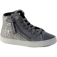 Chaussures Fille Baskets montantes Geox Basket  J Kalispera G.D Dark Grey