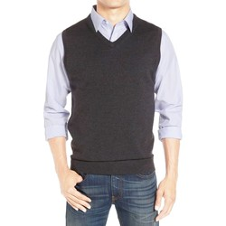 Vêtements Homme Gilets / Cardigans Kebello Pull debardeur en laine Taille : H Anthra M Anthra