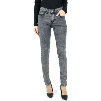 Vêtements Femme Jeans slim Kebello Jeans delavé F Gris Gris