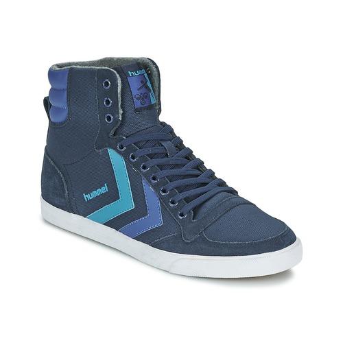 Chaussures Baskets montantes Hummel TEN STAR WAXED CANVAS HI Bleu