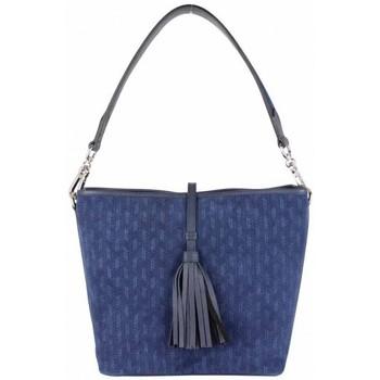 Sacs Femme Sacs Bandoulière Patrick Blanc Sac seau cuir effet tressé  bleu marine Multicolor