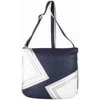 Sacs Femme Sacs Bandoulière Patrick Blanc Sac  cuir motif marine blanc et argent bleu