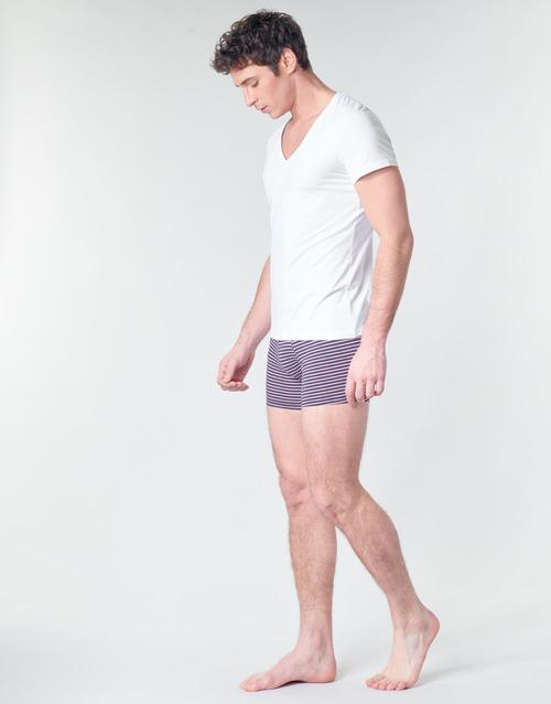 Hom Supreme Cotton Tshirt Col V Profond Blanc - Livraison Gratuite- Vêtements T-shirts Manches Courtes Homme 2999 elwpE