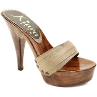 Chaussures Femme Mules Kiara Shoes K9201 Taupe