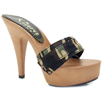 Chaussures Femme Mules Kiara Shoes K9301 Camouflage