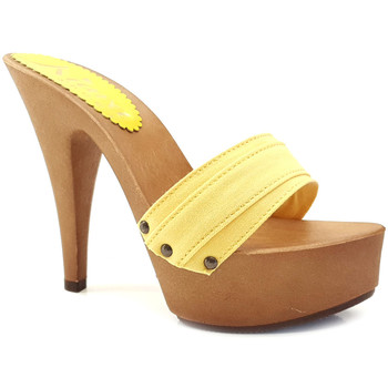 Chaussures Femme Mules Kiara Shoes K9301 Jaune