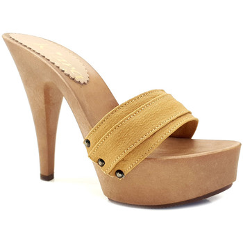 Chaussures Femme Mules Kiara Shoes K9301 Ocre