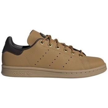 Chaussures Femme Baskets basses adidas Originals STAN SMITH J BEIGE