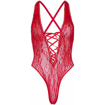 Sous-vêtements Femme Bodys Leg Avenue Body string floral Rouge