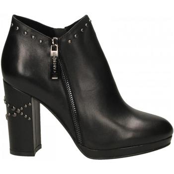 Chaussures Femme Bottines Café Noir TRONCHETTO TACCO ALTO E BORCHIE 010-nero