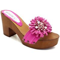 Chaussures Femme Mules Gioie Italiane G55018 Fuxia
