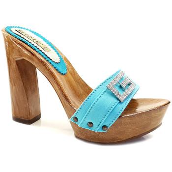 Chaussures Femme Mules Gioie Italiane G8105 Turquoise