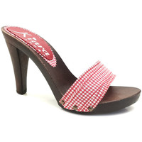 Chaussures Femme Mules Kiara Shoes K3101 Pin-Up Rouge