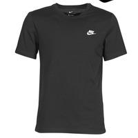 Vêtements Homme T-shirts manches courtes Nike M NSW CLUB TEE Noir / Blanc