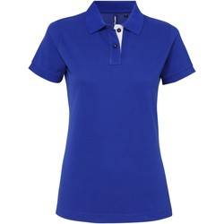 Vêtements Femme Polos manches courtes Asquith & Fox Contrast Bleu roi/Blanc