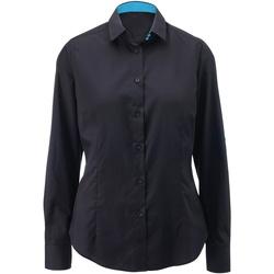 Vêtements Femme Chemises / Chemisiers Alexandra AX060 Noir/Bleu