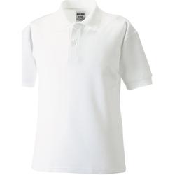 Vêtements Garçon Polos manches courtes Jerzees Schoolgear 65/35 Blanc