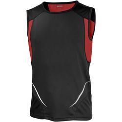 Vêtements Homme Débardeurs / T-shirts sans manche Spiro Athletic Noir/Rouge