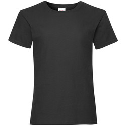 Vêtements Fille T-shirts manches courtes Fruit Of The Loom Valueweight Noir