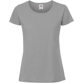 Vêtements Femme T-shirts manches courtes Fruit Of The Loom Premium Gris foncé