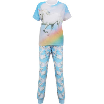 Vêtements Femme Pyjamas / Chemises de nuit Christmas Shop Unicorn Bleu clair