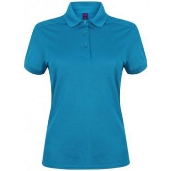 Vêtements Femme Polos manches courtes Henbury Pique Bleu ciel