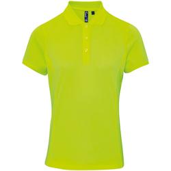 Vêtements Femme Polos manches courtes Premier PR616 Jaune néon