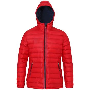 Vêtements Femme Doudounes 2786 Hooded Rouge/Bleu marine