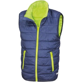 Vêtements Enfant Doudounes Result Core Bleu marine/Citron vert