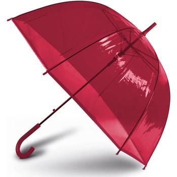 Accessoires textile Parapluies Kimood Transparent Rouge