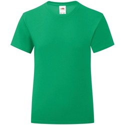 Vêtements Fille T-shirts manches courtes Fruit Of The Loom Iconic Vert