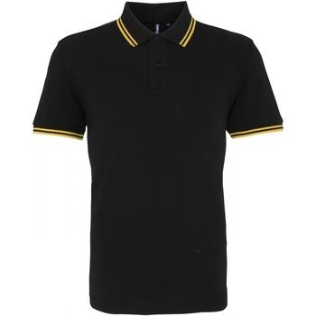Vêtements Homme Polos manches courtes Asquith & Fox Classics Noir/jaune