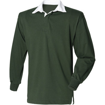 Vêtements Homme Polos manches longues Front Row Rugby Vert bouteille