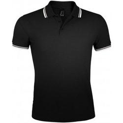 Vêtements Homme Polos manches courtes Sols Pasadena Noir/blanc
