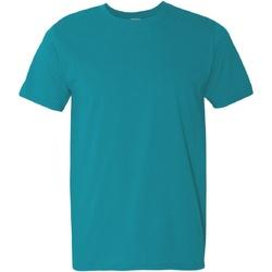 Vêtements Homme T-shirts manches courtes Gildan Soft-Style Bleu turquoise