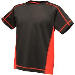 Vêtements Enfant T-shirts manches courtes Regatta RA001B Noir / rouge