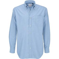 Vêtements Homme Chemises manches longues B And C Oxford Bleu clair