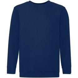 Vêtements Enfant Sweats Fruit Of The Loom 62041 Bleu marine
