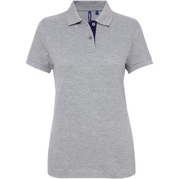Vêtements Femme Polos manches courtes Toutes les chaussures femme Contrast Gris/Bleu marine