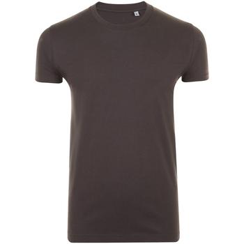 Vêtements Homme T-shirts manches courtes Sols Slim Fit Gris foncé