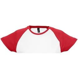 Vêtements Femme T-shirts manches courtes Sols Milky Blanc/Rouge