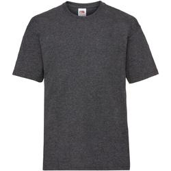 Vêtements Enfant T-shirts manches courtes Fruit Of The Loom 61033 Gris foncé chiné