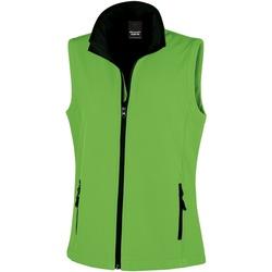 Vêtements Femme Gilets / Cardigans Result Printable Vert/Noir