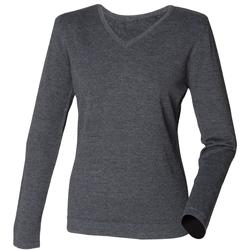 Vêtements Femme Pulls Henbury HB721 Gris marne